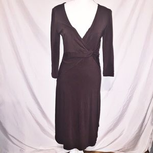 Free People Brown Long Sleeve Dress Size L